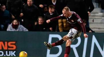 liam boyce downs rangers with debut goal for hearts
