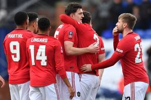 man utd player ratings from tranmere thrashing as harry maguire and mason greenwood star