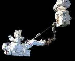 astronauts complete alpha magnetic spectrometer repairs during spacewalk