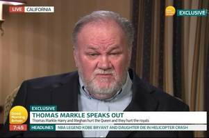 Thomas Markle tells 'embarrassing' Meghan and Prince Harry to 'man up' in extraordinary GMB interview