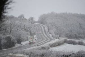 Met Office issues yellow weather warning for ice in parts of Wales