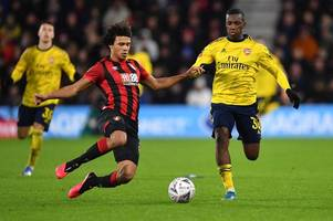 Eddie Nketiah sends Leeds United message after starring in Arsenal's FA Cup win over Bournemouth