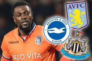 ex-arsenal ace emmanuel adebayor keen on premier league return with aston villa or newcastle