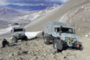 mercedes' unimog just set an altitude world record up an active volcano