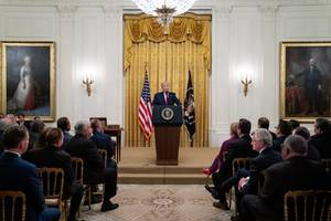 trump backs pompeo against npr, criticizes cnn and fox news