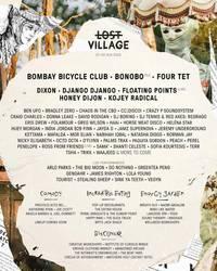 lost village 2020 grabs bombay bicycle club, four tet, bonobo