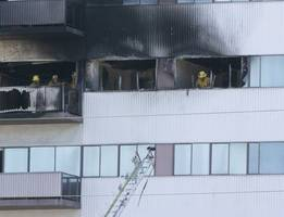 fire is out at brentwood-area high rise; 8 are injured