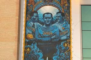 poppy seller ron jones, who played football in a prisoner of war camp at auschwitz, honoured on mural at chelsea fc