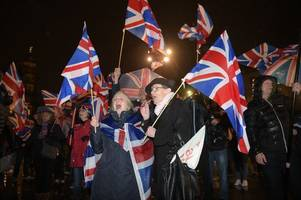 Brexit Day party in Glasgow is damp squib as 100 people celebrate as Scotland leaves the European Union