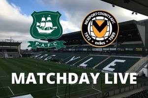 plymouth argyle vs newport live: pilgrims in league two action at home park