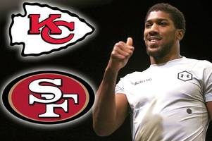 anthony joshua gives super bowl verdict and picks between 49ers and chiefs