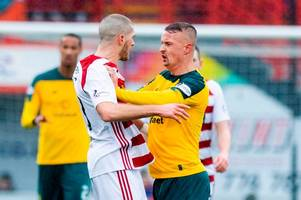 leigh griffiths 'stamp' controversy as celtic striker flashpoint sparks michael stewart and steven thompson debate