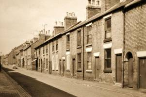 homes in derby street await their fate during 1970s clearance scheme