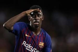 soccer-blow for barcelona as dembele suffers tear in right hamstring