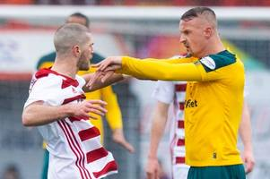 celtic's leigh griffiths cleared of 'stamp' on hamilton defender
