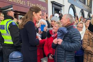 the emotional moment kate middleton met her old boarding school teachers in mumbles