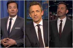 Late-Night Hosts Rip on Impeachment Results That Were 'Largely Determined by Old White Men' (Videos)