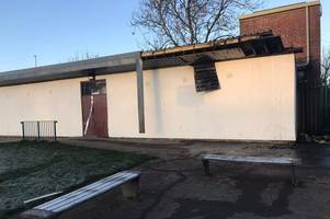 cheltenham football team left homeless after suspected arson attack on changing rooms