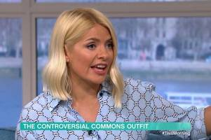 holly willoughby shuts down guest over tracy brabin mp dress backlash