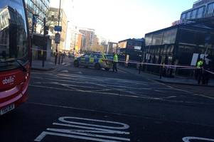 east croydon evacuation: first pictures from scene show massive police cordon as station shut