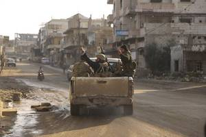 syrian army enters rebel-held northwestern saraqeb town in latest advance - state media