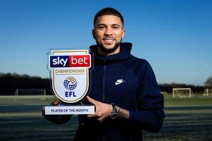 bristol city's nahki wells named championship player of the month ... after starring for qpr