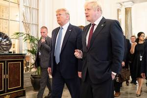 donald trump 'apoplectic' in call with boris johnson over huawei