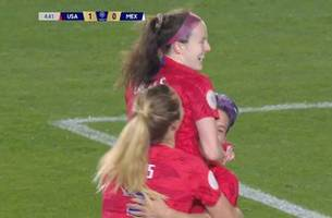 rose lavelle strikes from distance to make it 1-0 vs. mexico