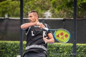 kyrgios out of new york open with shoulder injury