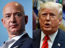 amazon wants to depose trump in its jedi protest saying his 'bias' against founder jeff bezos influenced dod decision (amzn, ggog)