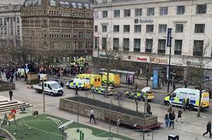 Manchester city centre 'stabbing' police statement with Piccadilly Gardens on lockdown