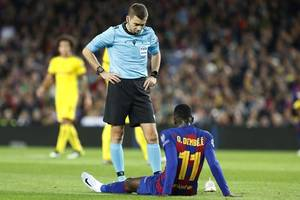 barca's dembele out of euro 2020 after hamstring surgery