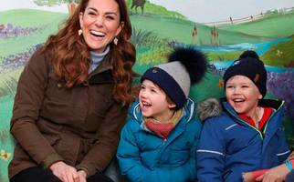 watch: duchess of cambridge kate has a ball on visit to co down farm
