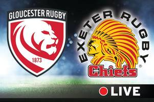 gallagher premiership rugby live: gloucester rugby v exeter chiefs