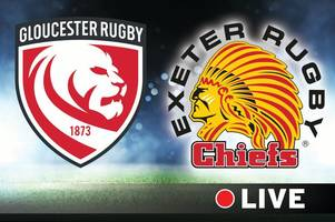 Gloucester Rugby v Exeter Chiefs live - Gallagher Premiership Rugby match night at Kingsholm
