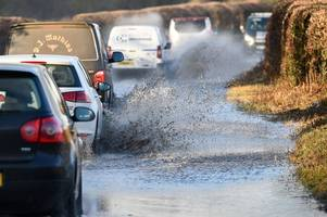 Storm Dennis: RAC warns drivers not to 'risk their lives' as more flooding expected in Somerset