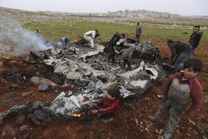 another syrian government helicopter shot down over idlib region