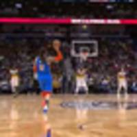 Basketball: Steven Adams hits first NBA three pointer in incredibly casual fashion