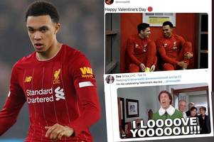 liverpool fans respond with epic memes to trent alexander-arnold's valentines post
