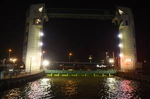 storm dennis: hull's tidal barrier lowered as city prepares to withstand 'biblical' downpour