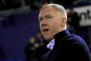 man utd legend paul scholes causes shock after being spotted watching gloucester rugby's game against exeter chiefs
