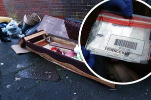 Council investigation underway after fly-tipper left bank statements among broken sofa, mattress and carpet
