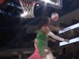Watch: Migos' Quavo Shares Epic Moment Blocking The Life Out Of Common During NBA All-Star Celebrity B-Ball Game