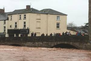 river monnow hits highest levels ever recorded as monmouth residents leave homes due to flooding