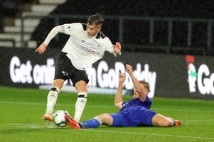 late agony for derby county u23s against everton after cresswell's strike