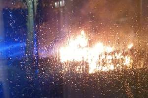 car torched in targeted arson attack in cumbernauld street