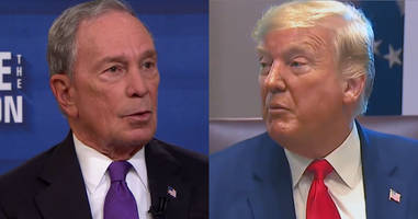 bloomberg and trump exchange twitter blows: 'can't trust a word you say'