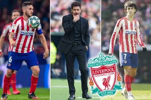 atletico madrid's potential line-up vs liverpool as diego simeone tackles injury crisis