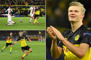 erling haaland goal 'noise' makes fans go crazy after another stunning strike
