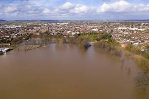 flooding closes a40 between ross-on-wye and monmouth in wake of storm dennis